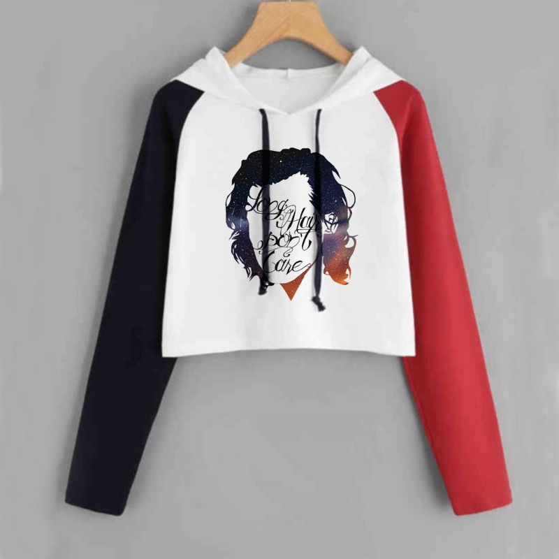 Harry Styles Crop Top Hoodie