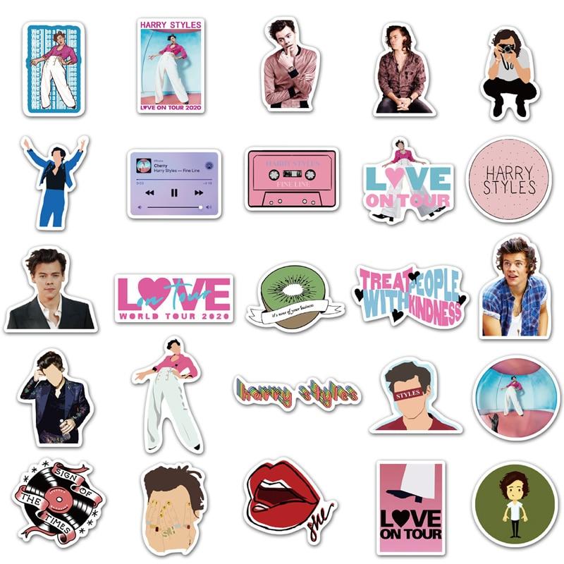 50pcs/pack British Singer Harry Edward Styles Sticker