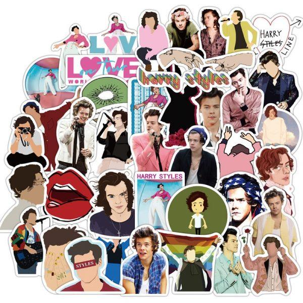 50pcs Famous Singer Harry Edward Styles Stickers